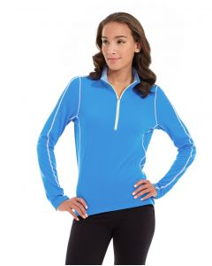 Olivia 1/4 Zip Light Jacket-L-Blue