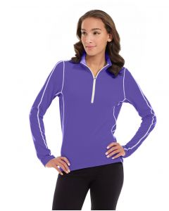 Olivia 1/4 Zip Light Jacket-L-Purple