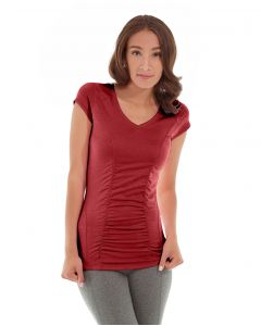 Iris Workout Top-L-Red